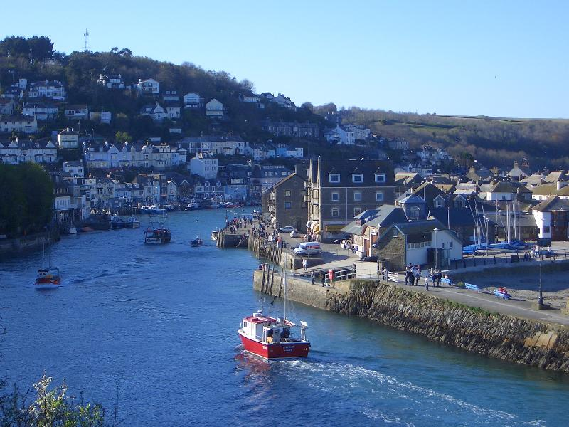 Fishing boats returning to Looe
