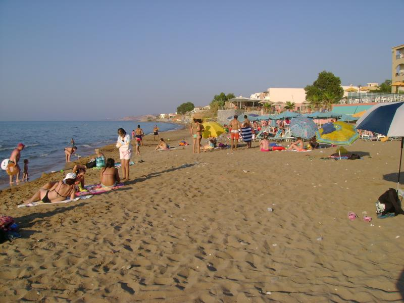 This sandy beach is 3 km away from the villa
