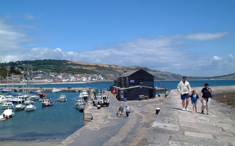 Lyme Regis Harbour and Cobb Wall
