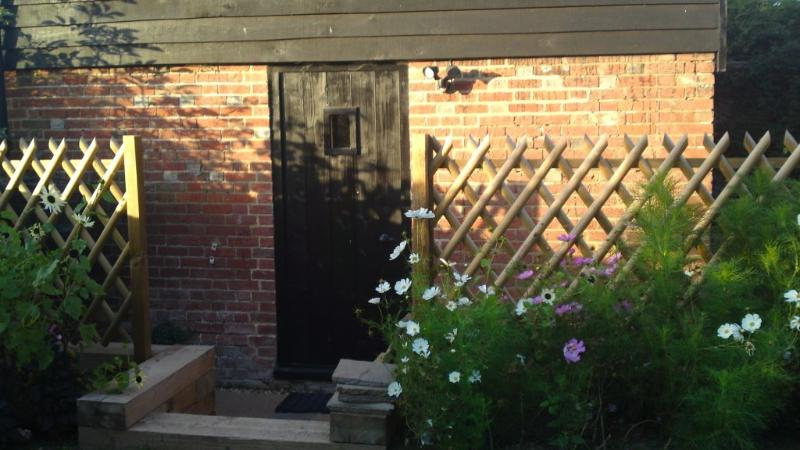Entrance to the Granary & its private patio