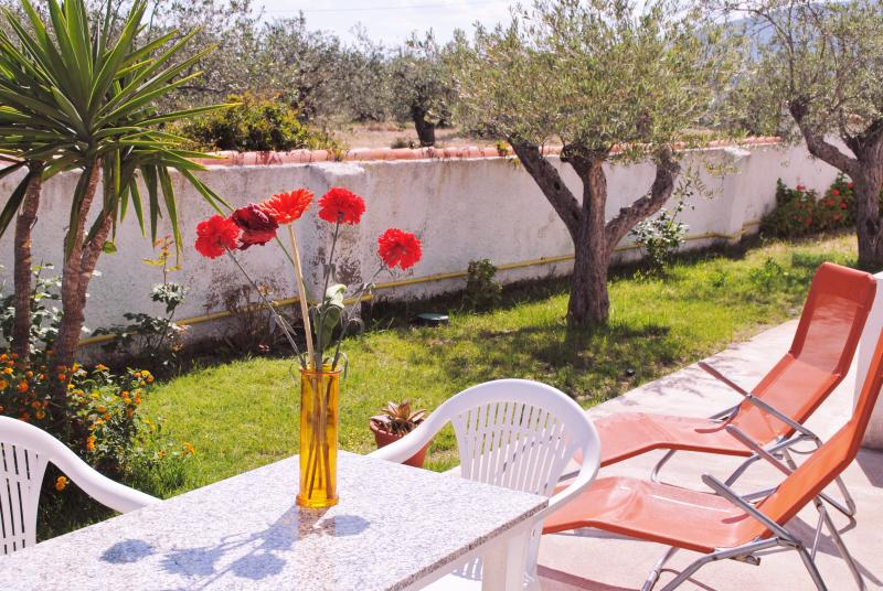 Spazio giardino arredato e attrezzato per barbecue