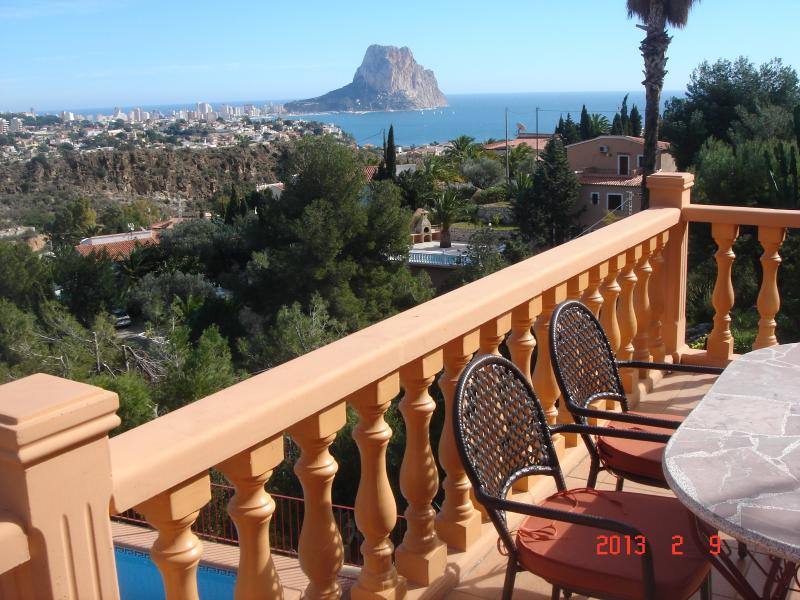 Dreamview from your terrace, pool down, sea nearby, mountains around