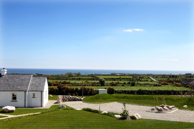 Vistas sobre o mar da Irlanda