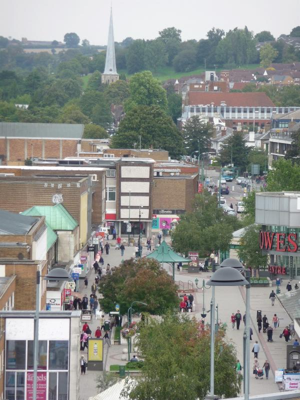 View over Hemel Hempstead town centre