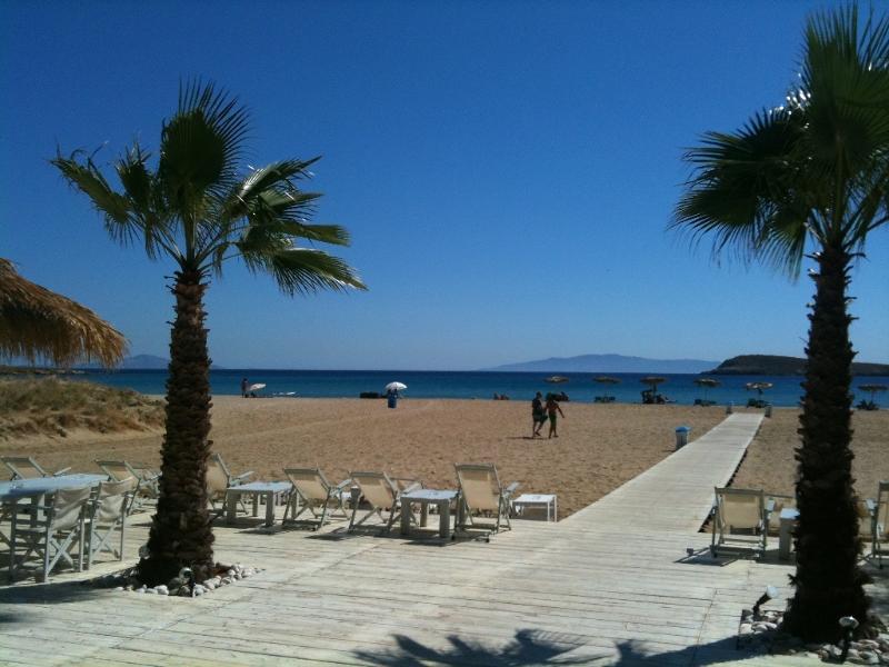 la plage Chryssi Akti (Golden Beach)