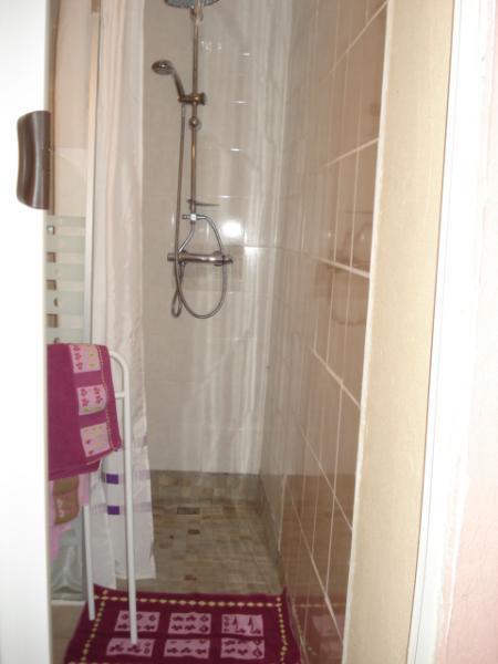 La salle d'eau, douche à l'italienne spacieuse.