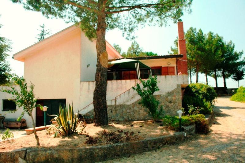 Back of the villa
