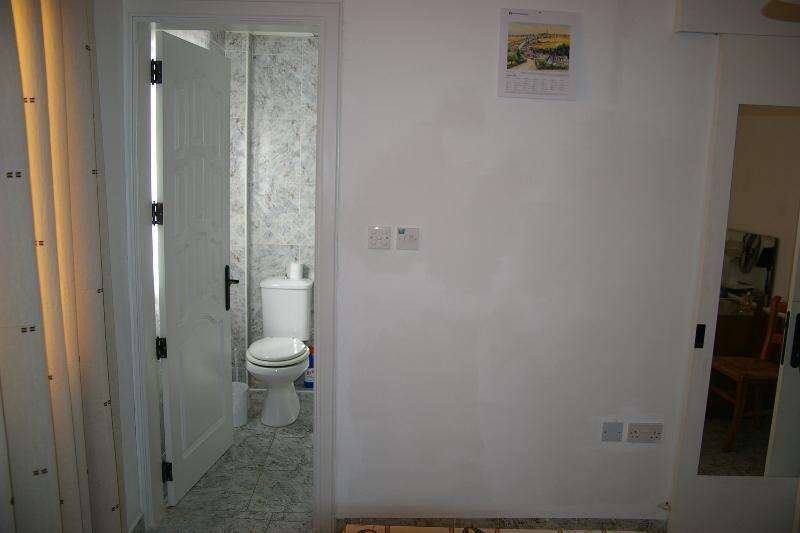 Master bedroom's en suite (toilet, shower and basin)