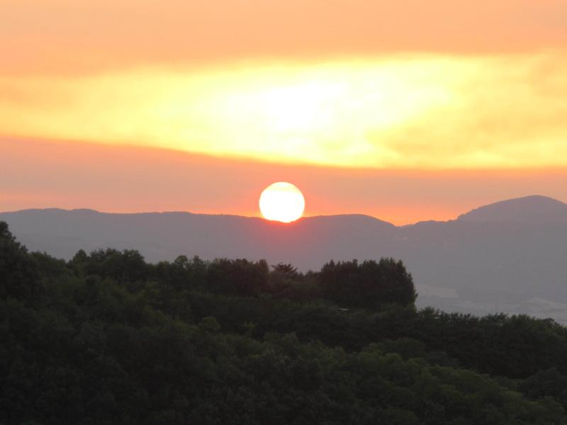 Sunset over Monte Amiata