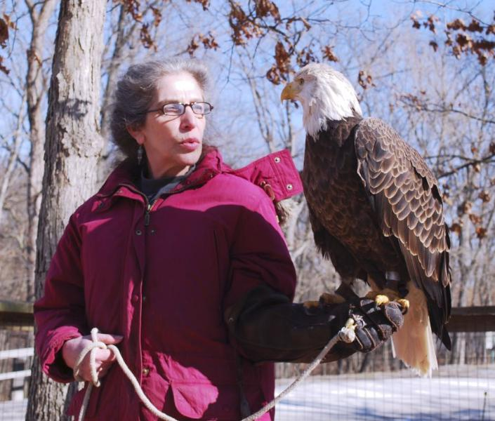 Presso il rifugio della fauna selvatica di Adirondack.