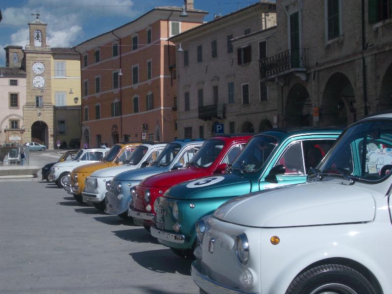 Fiat 500 festival in San Severino