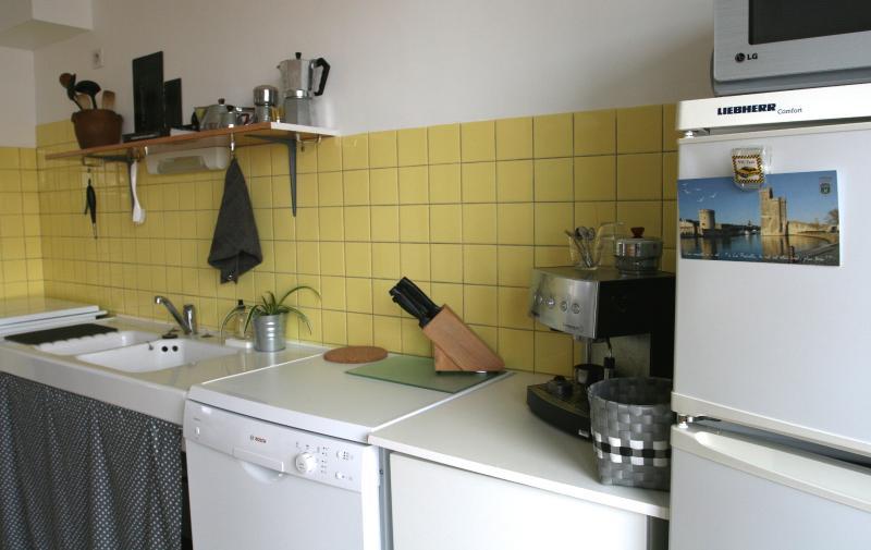1st floor, kitchen. Dishwasher, microwave, expresso, fridge