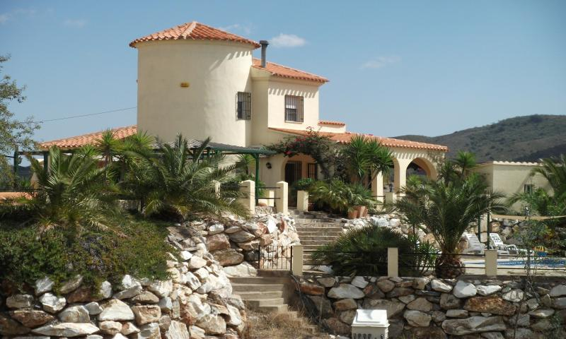 Rear view of the villa where the swimming pool is situated