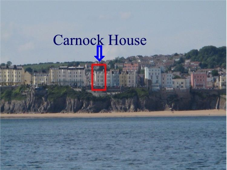 Carnock as seen from the sea, superbly located on cliff top.