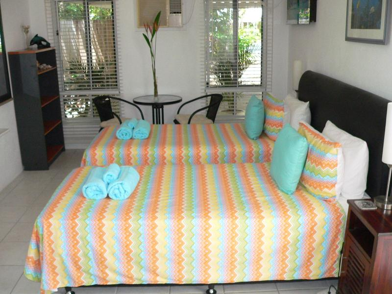 The King suite/Cottage can have the bed separated to 2 King Single beds.