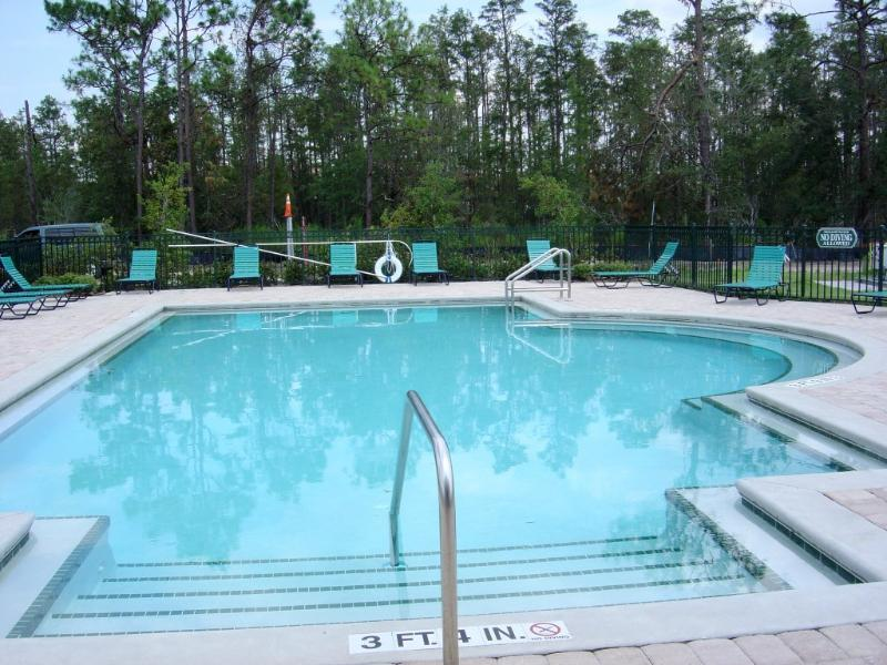 Small pool close to house