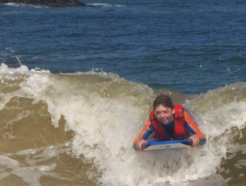Surfing at Westport.