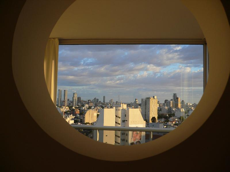 Views of the waterfront from the fisheye kitchen.