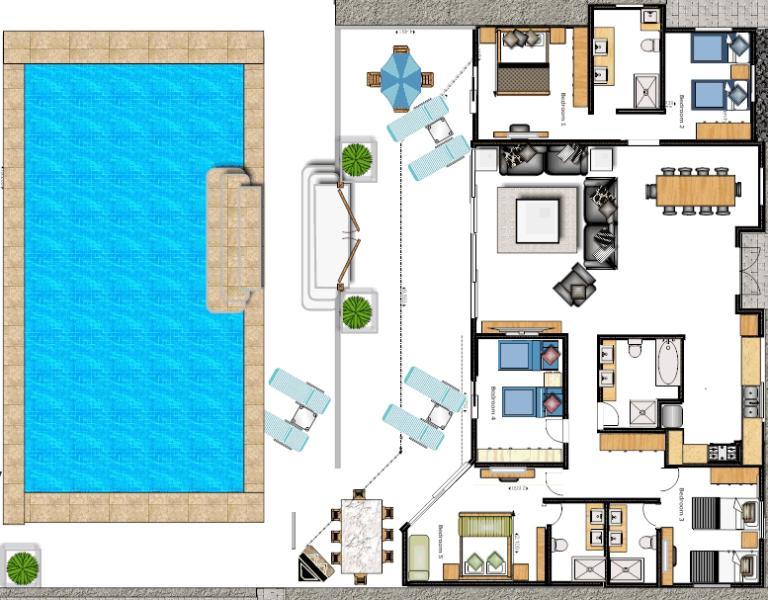 Villa CoCo fantastisch große, freistehende moderne Villa alles auf einer Ebene-warum nicht wählen Sie Ihr Schlafzimmer zuerst!