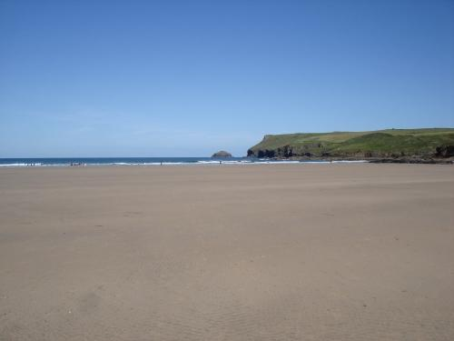 Polzeath beach - great for ball games and surfing