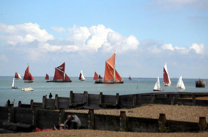 Whitstable, views from the beach, 1 min walk away.