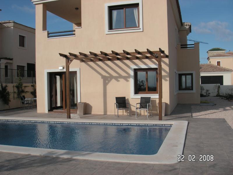 The villa and private pool