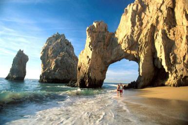 World famous Cabo San Lucas Arch landmark just a short drive away