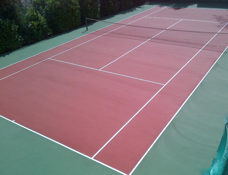 Newly resurfaced Tennis Court