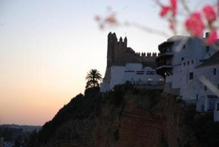 Favolosa vista tramonto di Arcos´ 1000 anno vecchio castello moresco dalla vostra terrazza privata