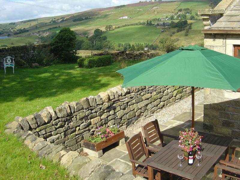 Private garden and patio area