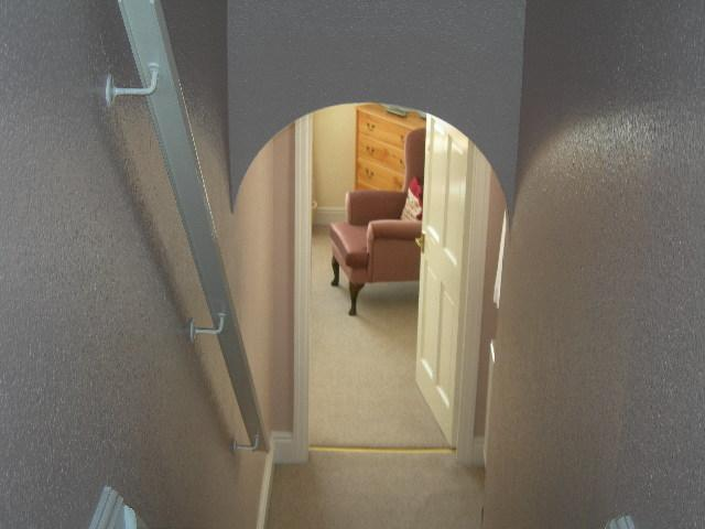 Bedroom 2 is on a split level.....more privacy