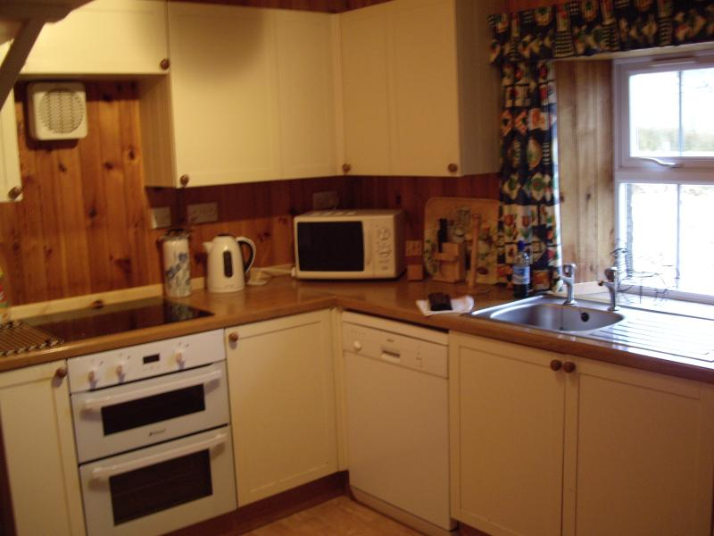 Fully fitted and equipped kitchen .