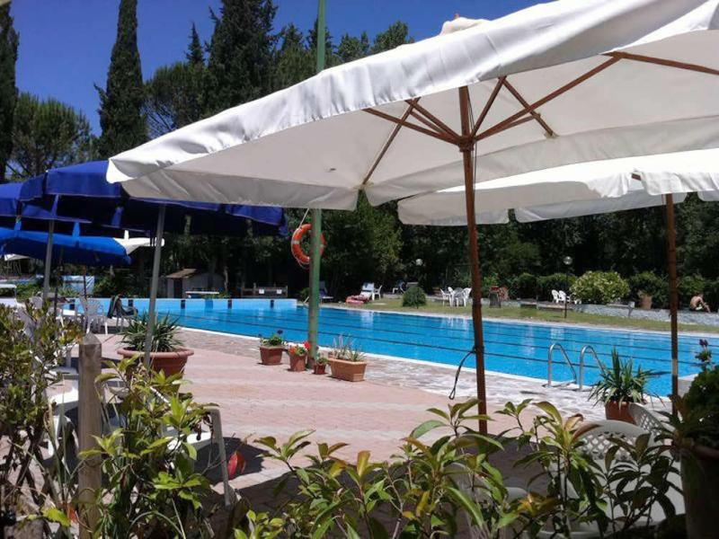 The beautiful public pool with restaurant 5 minutes walk from the apartment