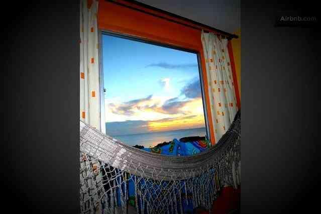 Amaca e vista tramont sul mare