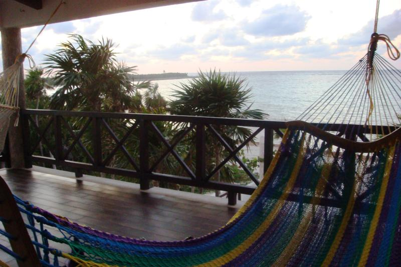 SERENITY SUITE in upper level, hammocks for the nap.