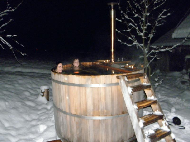 natural hot tub - 35 - 40 C open in winter and summer