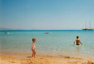 perfect Altinkum (means Golden Sand) beach for kids is 50 meters away