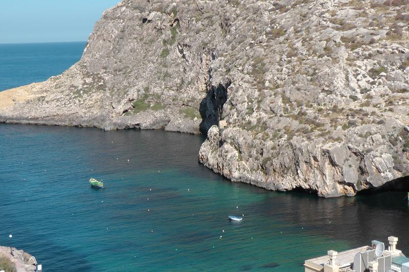 View of Xlendi bay from the apartments