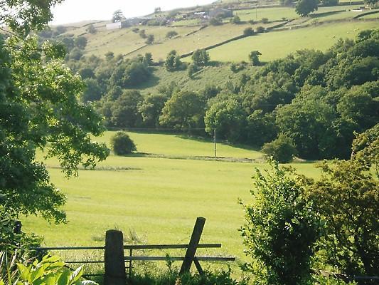 Vista della valle Newsholme da True ben Hall