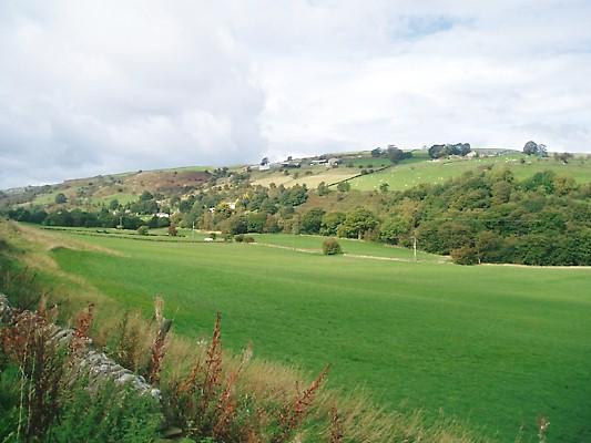 Vista sulla valle circostante da vero bene Hall Farm