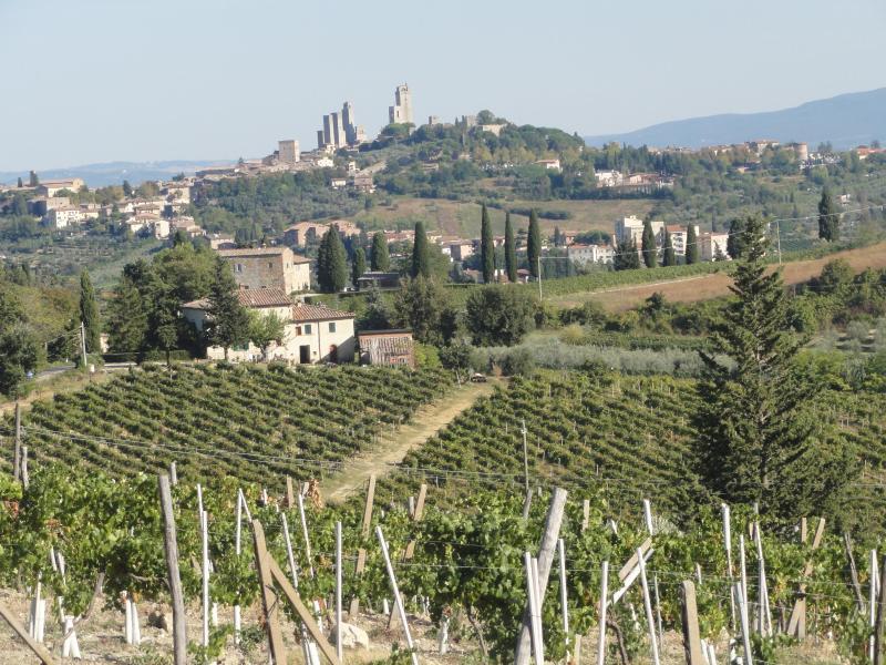 San Gimignano i avståndet