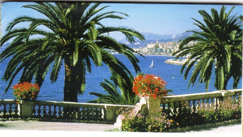 Menton Promenade and view of Cote D'Azur