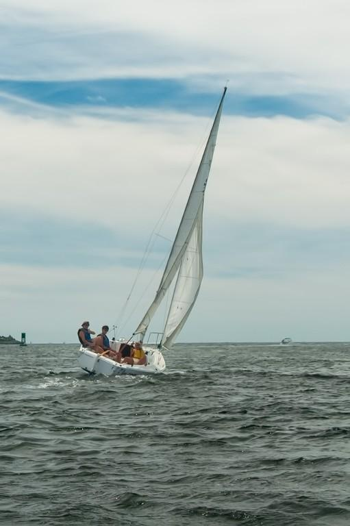 Sailing in Branford Harbor