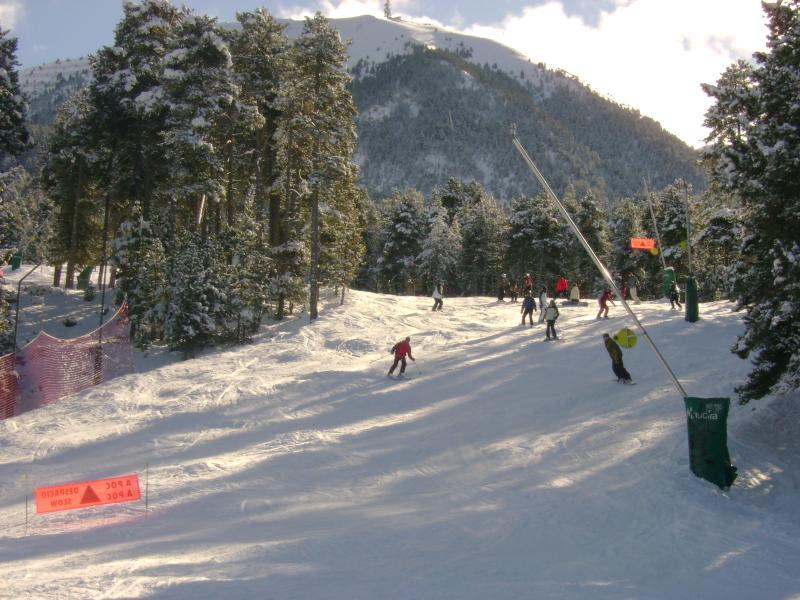 Skiing at Grau Roig, Andorra, one of a dozen local ski resorts