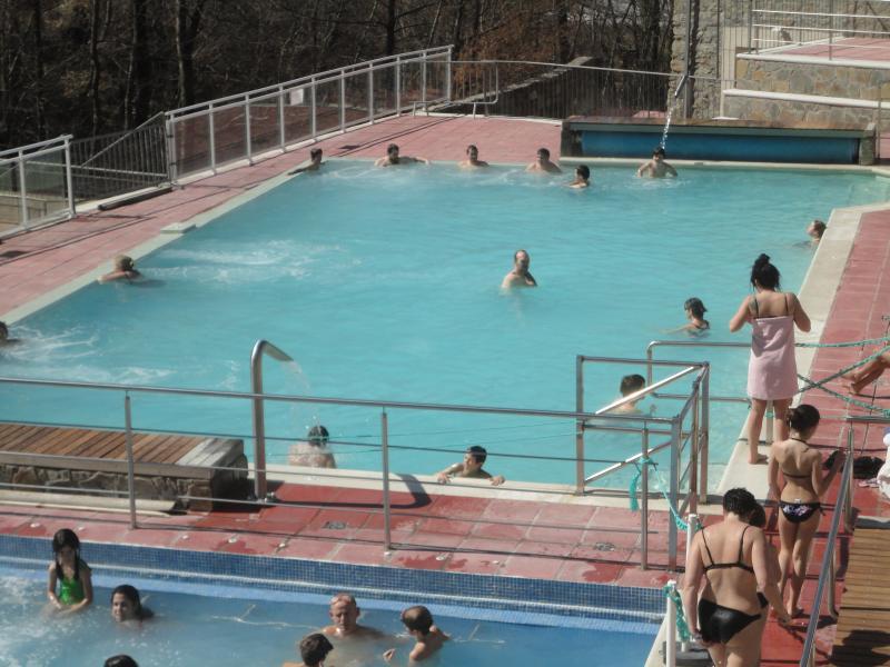 Thermal baths at Llo - water at 37 degrees C !!