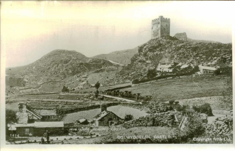 Historiska Tanycastell och Dolwyddelan (Llywelyn Fawr) slott