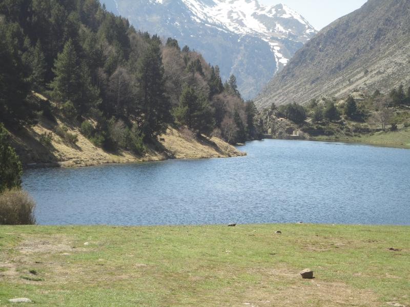 A mountain lake near the Col de Puymorens on the way to Andorra