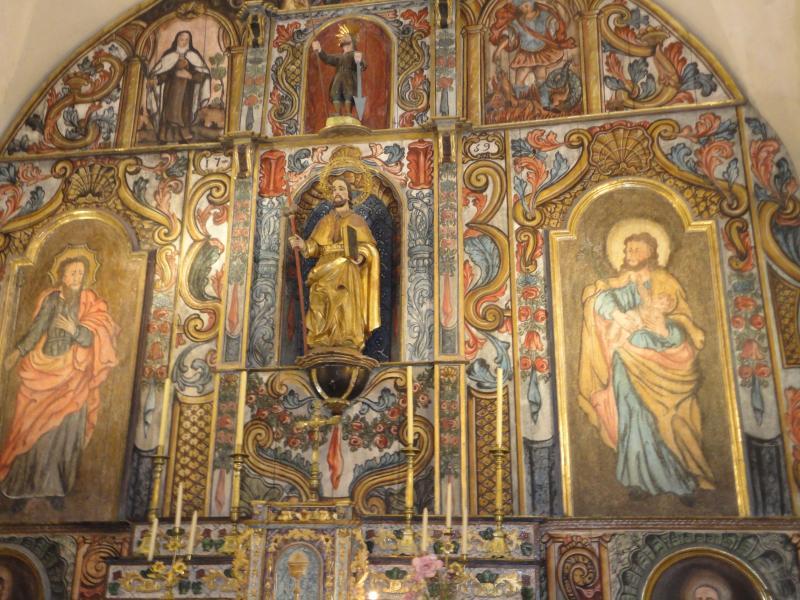 The magnificent altar at Nahuja church