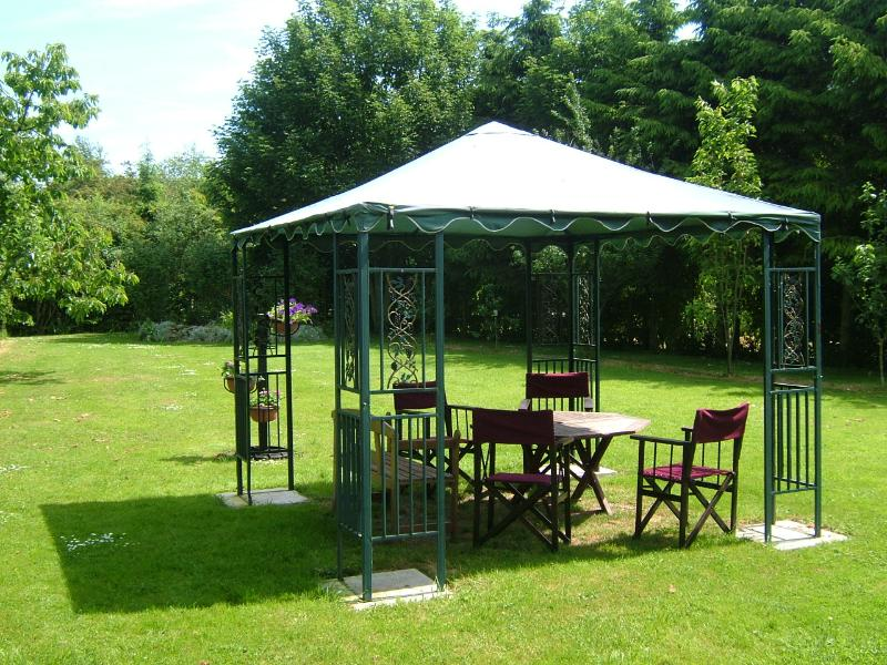 sit out and BBQ under the gazebo