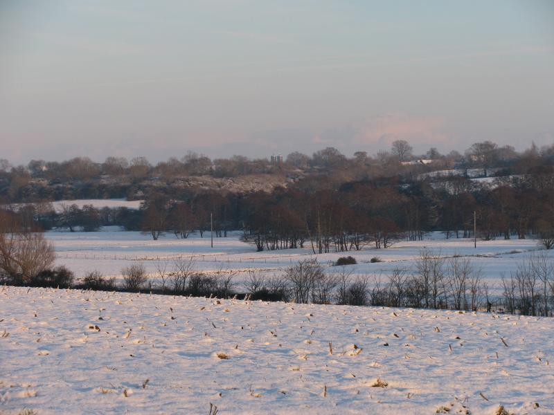 winter walk across the valley